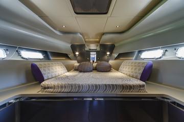 Italy, Fiumicino, 50' luxury yacht, master bedroom