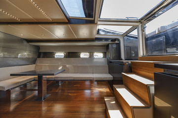 Italy, Fiumicino (Rome), 50' luxury yacht, dinette
