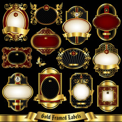 Gold framed labels set 1
