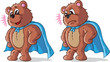 Super hero bear