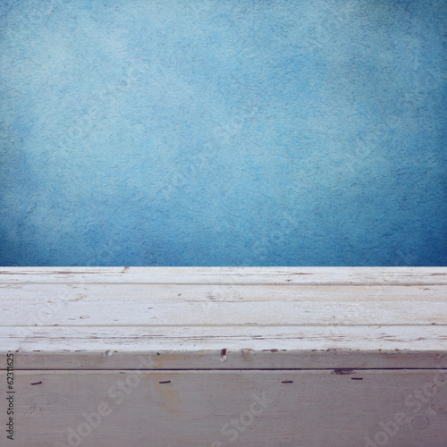 Nautical background with empty wooden deck
