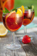 Refreshing fruit sangria (punch)
