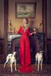 Dame mit Hunden