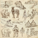 SOUTH AFRICA_2. Set of full sized hand drawn illustrations