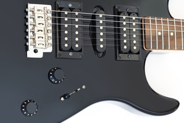 Electric Guitar in detail isolated