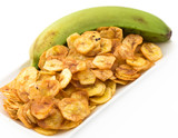 Green Banana Chips from Cuban Cuisine