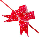 Bow made from red ribbon isolated