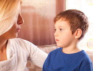 Talking with a child