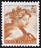 "stamp printed in Italy from the ""Michelangelo"""