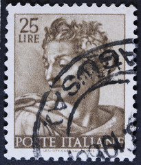 """stamp printed in Italy from the """"Michelangelo"""""""