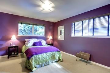 Contrast color beautiful bedroom