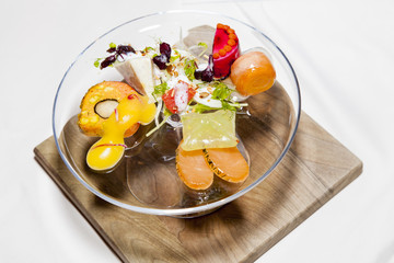 Awarded tasty modern decorated food dessert salads
