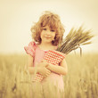 Child in wheat field
