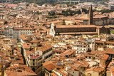 Top view from Campanile Giotto on the historical center of Flore