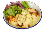 Cauliflower Cheese with Salad