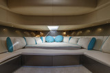 Italy, Fiumicino (Rome), 50' luxury yacht, master bedroom