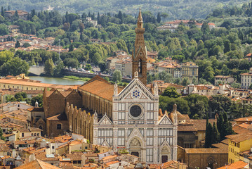 Florence, Italy: panoramic view from the top of Duomo church