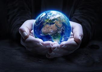 earth in hands - environment protection concept © Romolo Tavani