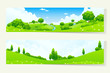 Two Horizontal Banners with Nature Landscale