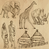 SOUTH AFRICA_3. Set of hand drawn illustrations into vectors