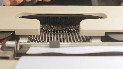 Typewriter front view 1