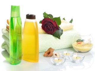 Items for body care, spa and sauna