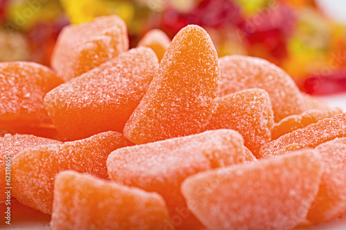 orange slice candy wedges