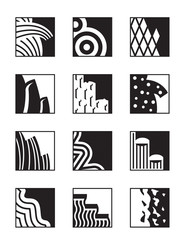 Different building surfaces - vector illustration