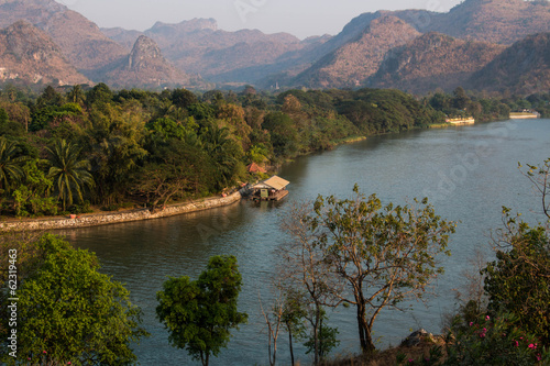Land scape of river Kwai