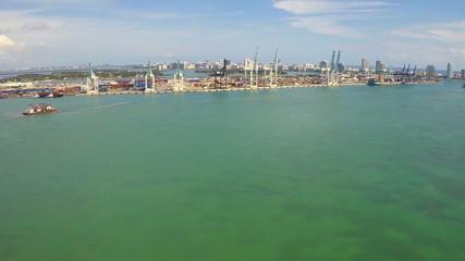 Aerial video Port of Miami