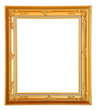 Gold vintage photo frame, clipping path.