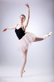 Ballerina doing arabesques
