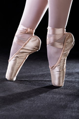 Pointe shoes closeup
