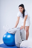 Exercise on a rubber ball