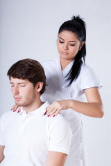 Massaging a client