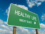Road sign to healthy life
