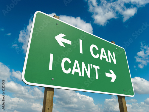 Road sign to I can