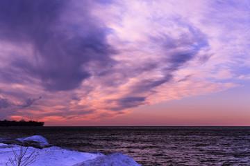 Pink Winter Sunset
