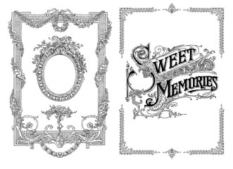 Sweet memories frames background