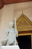 Warrior statues in wat suthat temple