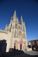 fachada principal catedral de burgos arte gotico