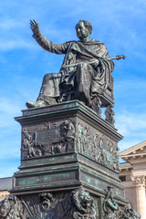 Munich, Statue of King Max Joseph in front of Bavarian State Ope