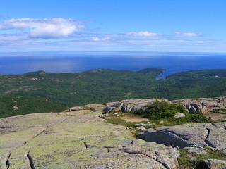 Acadia National Park Panorama of Frenchman Bay, Maine, USA