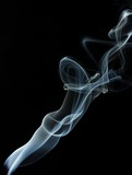 Abstract smoke on black  background