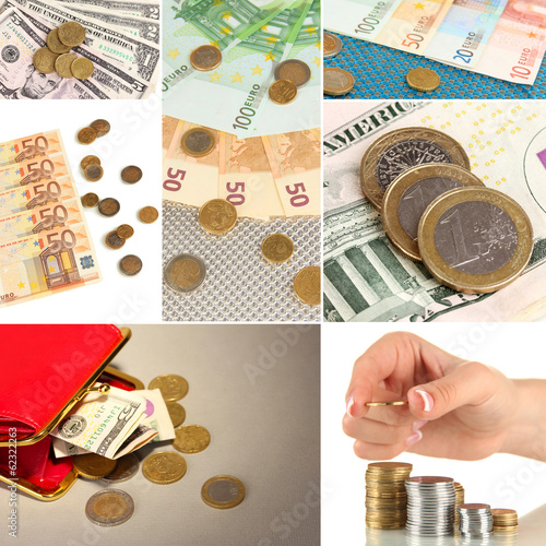 Collage of money
