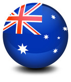 A soccer ball with the flag of Australia