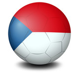A soccer ball with the flag of Czech Republic