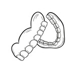 sketch of the denture