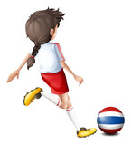 A female soccer player from Thailand