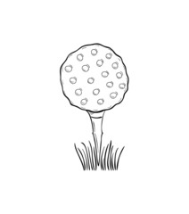 sketch of the golf ball